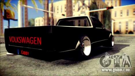 Volkswagen Caddy Widebody Top-Chop pour GTA San Andreas laissé vue