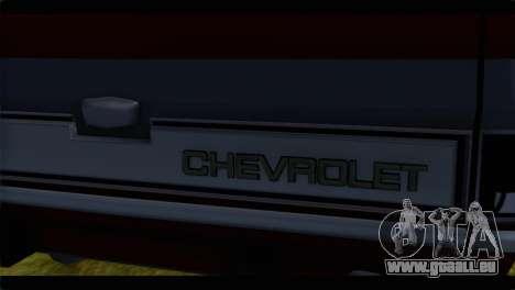 Chevrolet C10 Low für GTA San Andreas Rückansicht