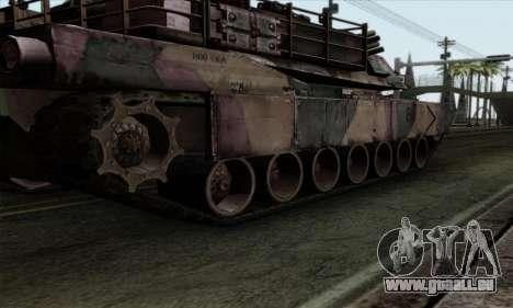 M1A2 Abrams Autumn Camo pour GTA San Andreas vue arrière