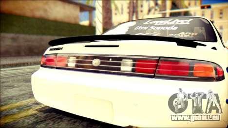 Nissan Silvia S14 Umi Sonoda Paintjob Itasha für GTA San Andreas Rückansicht