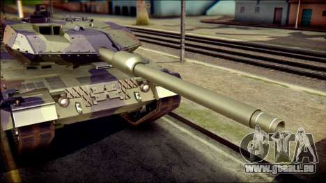 Leopard 2A6 PJ pour GTA San Andreas vue arrière