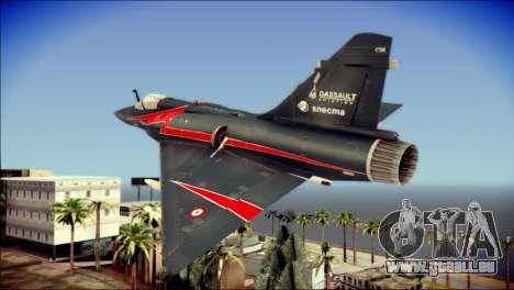 Dassault Mirage 2000-10 Black pour GTA San Andreas laissé vue