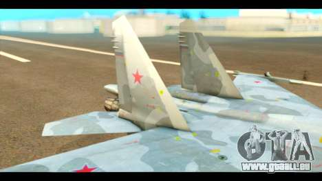 SU-37 Terminator Russian AF Camo für GTA San Andreas zurück linke Ansicht