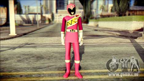 Power Rangers Kyoryu Pink Skin pour GTA San Andreas