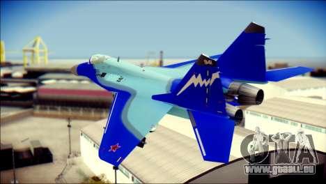 Mikoyan-Gurevich MIG-29K für GTA San Andreas linke Ansicht