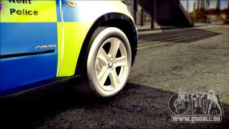BMW X5 Kent Police RPU pour GTA San Andreas sur la vue arrière gauche