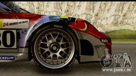 Porsche 911 GT3 RSR 2007 Flying Lizard für GTA San Andreas Rückansicht