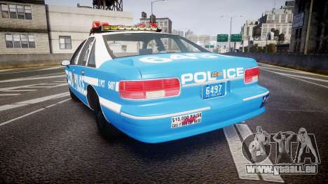 Chevrolet Caprice 1993 LCPD Without Hubcabs ELS für GTA 4 hinten links Ansicht