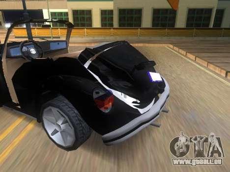 Volkswagen Beetle 1984 pour GTA San Andreas vue de dessous