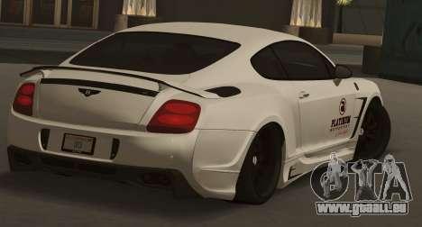 Bentley Continental GT Platinum Motorsport für GTA San Andreas linke Ansicht