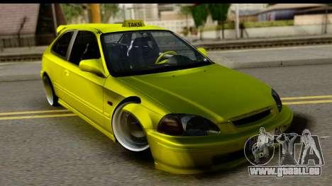 Honda Civic 1.4 Taxi für GTA San Andreas