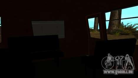 Roman Bus Edition pour GTA San Andreas vue intérieure