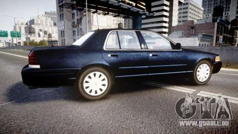 Ford Crown Victoria NYPD Unmarked [ELS] pour GTA 4 est une gauche