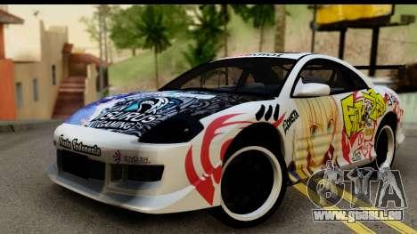 Mitsubishi Eclipse 2003 Fate Zero Itasha für GTA San Andreas
