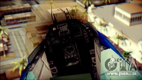 Mitsubishi F-2A JASDF v3.0 für GTA San Andreas Rückansicht