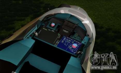 SU-35 Flanker-E ACAH für GTA San Andreas Rückansicht