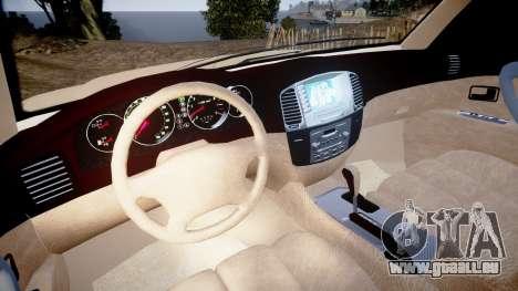 Toyota Land Cruiser 100 UEP [ELS] für GTA 4 Rückansicht