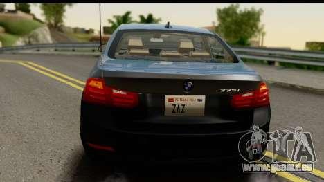 BMW 335i Coupe 2012 für GTA San Andreas Seitenansicht