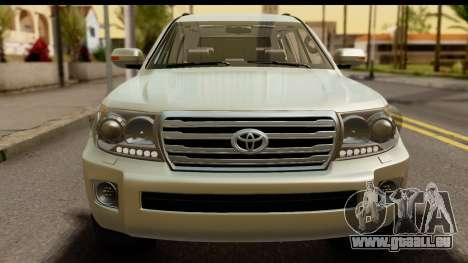 Toyota Land Cruiser 200 2013 pour GTA San Andreas sur la vue arrière gauche