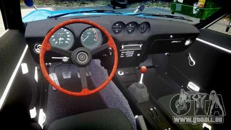 Nissan Fairlady Z (S30) Devil Z pour GTA 4 est une vue de l'intérieur
