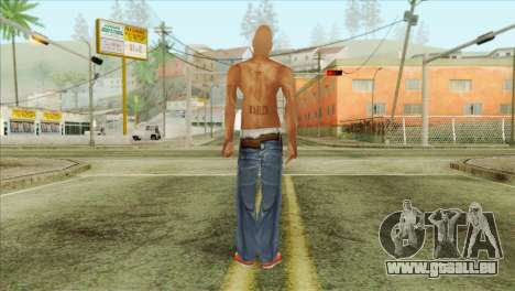 Tupac Shakur Skin v3 pour GTA San Andreas deuxième écran