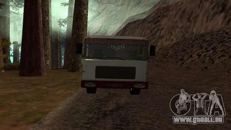 Roman Bus Edition für GTA San Andreas zurück linke Ansicht