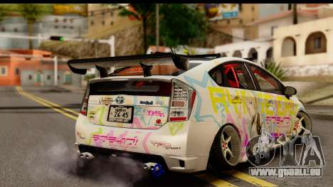 Toyota Prius Hybrid Eri Ayase Love Live Itasha pour GTA San Andreas laissé vue