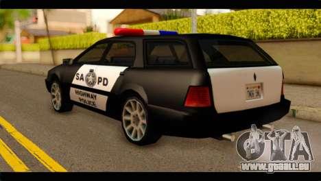 Stratum Police Highway v1.0 pour GTA San Andreas laissé vue