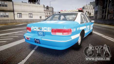 Chevrolet Caprice 1993 LCPD With Hubcabs [ELS] für GTA 4 hinten links Ansicht