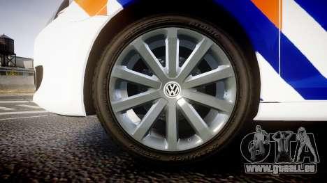 Volkswagen Golf Mk6 Dutch Police [ELS] für GTA 4 Rückansicht