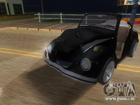 Volkswagen Beetle 1984 pour GTA San Andreas vue de dessus