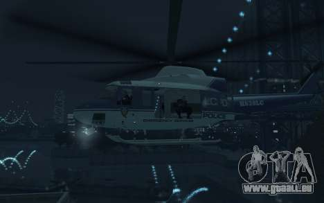 GTA III Police Valkyrie HD pour GTA 4 Vue arrière