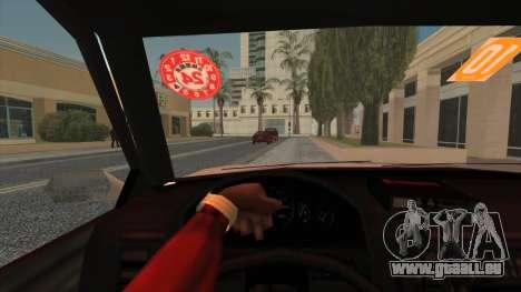 Karin Primo Police pour GTA San Andreas sur la vue arrière gauche