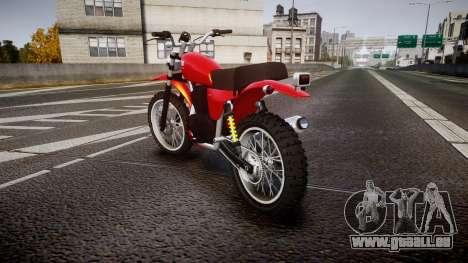 GTA V Dinka Enduro pour GTA 4 Vue arrière de la gauche