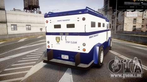 GTA V Brute Police Riot [ELS] skin 3 pour GTA 4 Vue arrière de la gauche