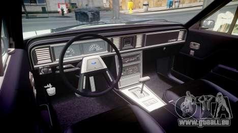 Ford LTD LX 1985 v1.6 pour GTA 4 est une vue de l'intérieur