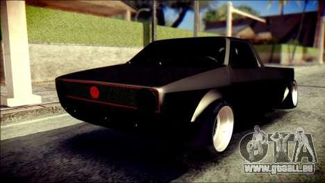 Volkswagen Caddy Widebody Top-Chop für GTA San Andreas