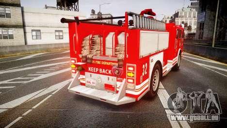 GTA V MTL Firetruck pour GTA 4 Vue arrière de la gauche