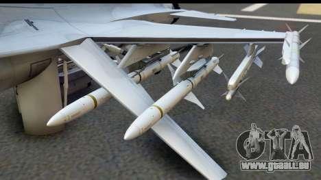 F-16C Polish Air Force Tigers pour GTA San Andreas laissé vue