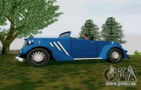 Hustler Cabriolet pour GTA San Andreas laissé vue