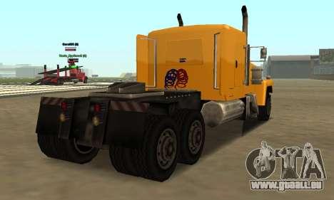 PS2 Tanker pour GTA San Andreas sur la vue arrière gauche