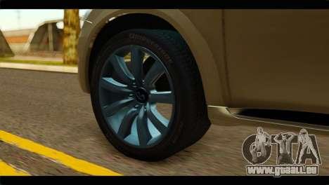 Infiniti QX56 für GTA San Andreas zurück linke Ansicht
