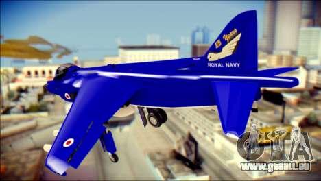GR-9 Royal Navy Air Force pour GTA San Andreas laissé vue