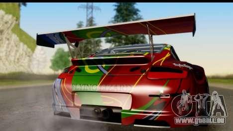 Porsche 911 GT3 RSR 2007 Flying Lizard pour GTA San Andreas vue de droite