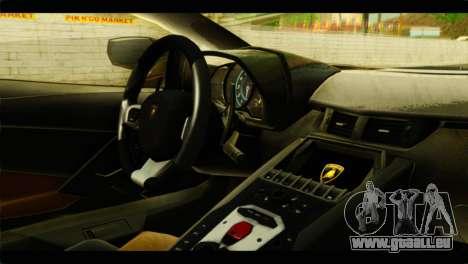 Lamborghini Aventador LP700-4 für GTA San Andreas rechten Ansicht