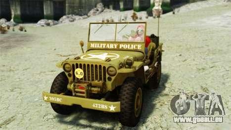 Ford Willys 1942 für GTA 4 hinten links Ansicht