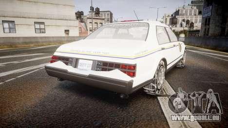 GTA V Albany Police Roadcruiser pour GTA 4 Vue arrière de la gauche