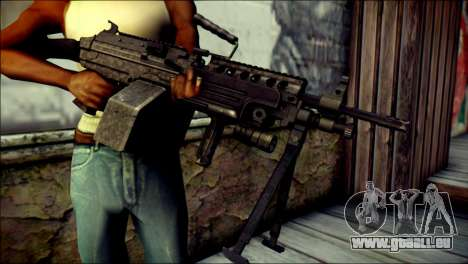 Gold M60 with Custom GTA 5 Icon für GTA San Andreas dritten Screenshot