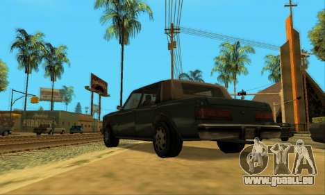 Beta VC Greenwood pour GTA San Andreas sur la vue arrière gauche