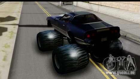 Monster Phoenix pour GTA San Andreas sur la vue arrière gauche
